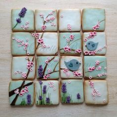 Beautiful spring bird cookies!