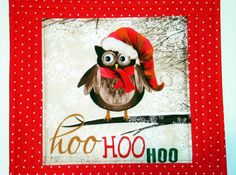 Owl Holiday Mat Owl Table Topper Holiday Place by SewNSewSister
