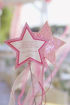 Prinzessin Geburtstag Einladung Stern Karte *** Princess party star invitation idea