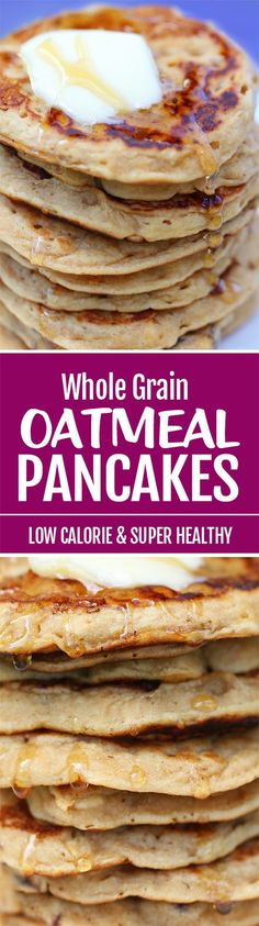 The BEST Oatmeal Pancakes Recipe, packed with whole grain oats, and they are vegan too