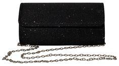 Outrip Women's Evening Bag Clutch Purse Glitter Party Wedding Handbag with Chain (Black) Handbags Wedding Clutch, Glitter Party, Black Clutch, Silver Clutch, Clutch Wallet, Clutch Handbags, Clutch Bags, Fashion Handbags, Crossbody Bags