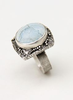 Turquoise Granulation Ring by J Alexander Designs.