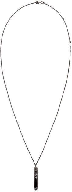 Tom Wood - Gunmetal Large Bullet Necklace