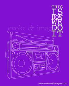 Evoke & Imagine Print.