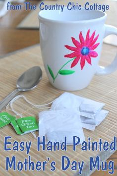 Gifts for Mothers -- Easy Hand Painted Mug LIVE Video Tutorial ~ * THE COUNTRY CHIC COTTAGE (DIY, Home Decor, Crafts, Farmhouse)