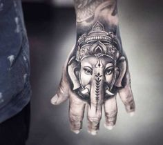 Handphant Geneisha tattoo by Khail Tattooer
