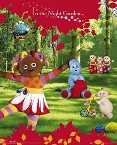 In the Night Garden : Red - Mini Poster 40cm x 50cm (new & sealed)