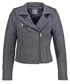 Vero Moda Vmsave Chaqueta De Cuero Sintetico Pewter abrigos y chaquetas Vmsave Vero sintético Pewter moda cuero Chaqueta Noe.Moda