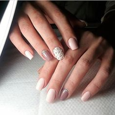 3d nails, Accurate nails, Acrylic nails, Beige gel polish, Evening nails, Exquisite nails, Graduation nails, Medium nails