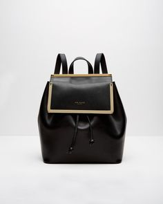 Ted Baker | Gold Metal Bar Leather Backpack | Lyst