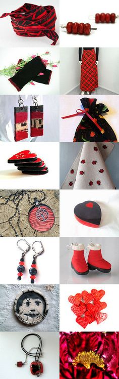 Black and red by Inita on Etsy--Pinned with TreasuryPin.com