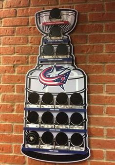 Columbus Blue Jackets Stanley Cup Playoff Wins Puck Mount