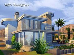 The Sims Resource: Triple Steps house by matomibotaki • Sims 4 Downloads