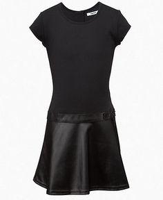 DKNY Girls Dress, Girls Dropwaist Dress - Kids Girls 7-16 - Macy's