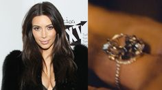 Kim's fiancé, Kanye West, went to Lorraine Schwartz to design the 15-carat diamond ring he gave to Kim when he proposed at AT&T Park in San Francisco. The ring is estimated to have cost Kanye $3 million.