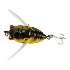 boutique1583 New Fishing Tackle Lure Snakehead Bass Killer Insect Cicada Freshwater Bait 6g