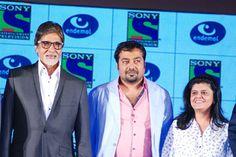 Amitabh Bachchan & Anurag Kashyap @ Launch of Amitabh's New Fiction Show