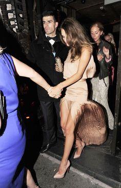 Stella McCartney dress + nude pumps