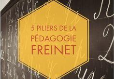 5 piliers de la pédagogie Freinet Montessori, Professor, Measurement Worksheets, Education Positive, Cooperative Learning, School Hacks, Parenting Advice, Positivity, Teaching