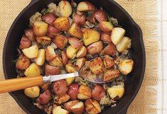 Cast-Iron-Roasted Red Potatoes with Rosemary and Onion