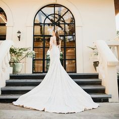 A custom Hannah Kong gown made for the stunning bride features an effortless draping to the classic silhouette. Bridal Gown Styles, Bridal Gowns, Wedding Gowns, Bridal Skirts, Whimsical Fashion, French Lace, Bridal Fashion, Draping, Beautiful Bride