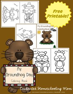 come have fun celebrating groundhog day with a fun groundhog day coloring book