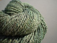 "GregoryRoad on Etsy. ""Blue Spruce"" hand-spun merino/Romney blend wool from fibers by CrazyQuiltHomestead on Etsy."