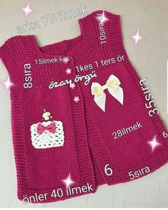 Fotografia - Her Crochet Knitting Socks, Baby Knitting, Crochet Baby, Girls Sweaters, Baby Sweaters, Baby Overall, Overalls Outfit, Baby Quilt Patterns, Easy Knitting Patterns