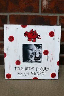 razorback crafts | would be cute for a Razorback nursery! | Craft Ideas