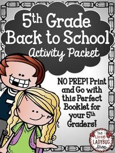 Back To School Activity Packet {5th Grade- NO PREP} | Back To School | 5th Grade Activity | No Prep | First Day of School |Beginning of Year ActivitiesThis Back to School activity packet is perfect for your 5th graders as they start back to school! The first few days of school are so hectic, why not make your time valuable and manageable!