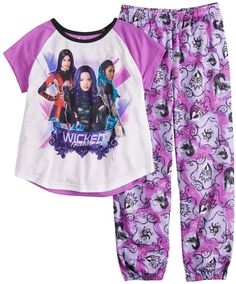 "/""Descendants Wicked World/"" Personaliz​ed T-Shirt and Pink Tutu Set NEW"