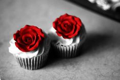 Red Velvet Cupcakes. Red is for sweetness.