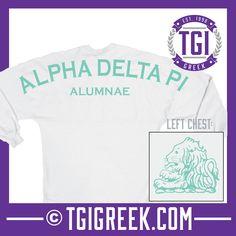 Alpha Delta Pi - TGI Greek - Comfort Colors - Greek T-shirts - #TGIGreek #AlphaDeltaPi #SpiritJersey