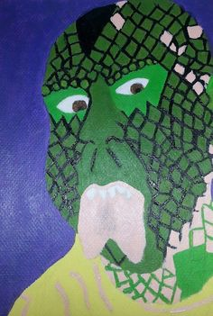 THE LIZARDMAN - 2014 Acrylic on paper