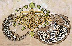 eala n Cheilteach - Celtic Art by Illahie on deviantART I want that otter!