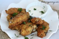 Parmesan Ranch Chicken Wings - Meat  2 lbs	 Chicken wings Refrigerated  2	 Eggs, large Baking & Spices  1 envelope	 Ranch dressing and seasoning mix Bread & Baked Goods  2 cups	 Breadcrumbs, plain or seasoned Dairy  1/4 cup	 Parmesan cheese, grated
