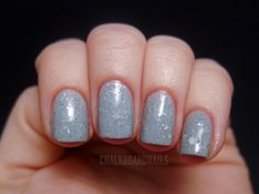 Grey speckled: Nerd Lacquer Don't Blink