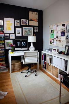 Suzie: Live Creating Yourself - Alaina Kaczmarski - Gorgeous two-tone office with light gray ...