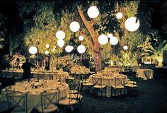 Lanterns for an Al Fresco Wedding