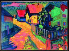 Kandinsky. Rue de Murnau avec femme. 1908. New York, collection particulière