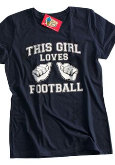 This Girl Loves FOOTBALL Screen Printed T-Shirt Tee Shirt T Shirt  Ladies Womens Youth Kids Mens sports on Etsy, $14.99