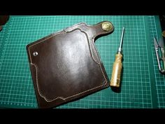 Making a Leather Biker Wallet - Part 1 The Cover - YouTube