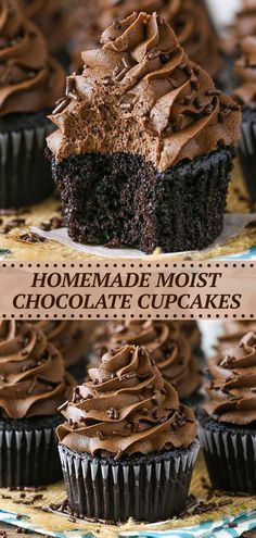 Chocolate Nutella, Homemade Chocolate Cupcakes, Chocolate Flavors, Chocolate Desserts, Melting Chocolate, Chocolate Cupcakes From Scratch, Best Chocolate Cupcake Recipe Ever, Homemade Snickers, Chocolate Muffins Moist