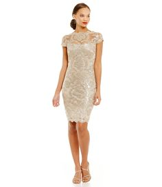 Shop for Tadashi Shoji Illusion Neck Sequin Lace Dress at Dillards.com. Visit Dillards.com to find clothing, accessories, shoes, cosmetics & more. The Style of Your Life.