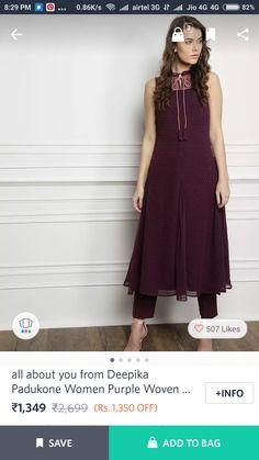 Purple Weave, Deepika Padukone, High Low, Kurtis, Formal Dresses, Women, Fashion, Dresses For Formal, Moda
