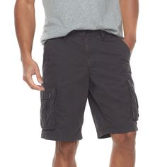 Men's SONOMA Goods for Life™ Modern-Fit Lightweight Twill Cargo Shorts, Grey