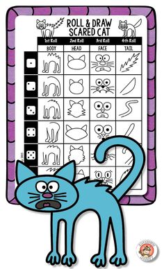 Roll & Draw Scared Cat