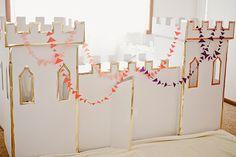 Averie's Winter Wonderland play ice castle using Land of Nod's Kardboard Kastle - Confetti Pop Birthday Design, 5th Birthday, Birthday Parties, Grown Up Parties, Knight Party, Cardboard Castle, Party Activities, Frozen Party, Childrens Party