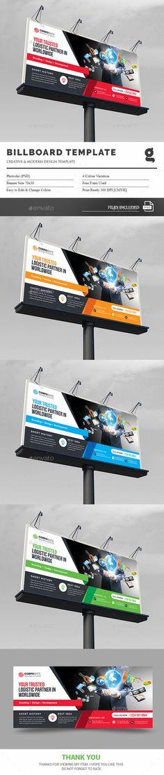 Billboard Template PSD