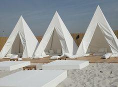 beach tents.